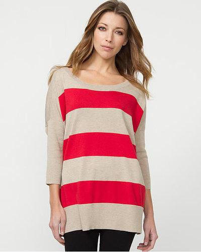 Le Château Cotton Blend Stripe Sweater