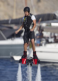 Leonardo DiCaprio tried his hand at Flyboarding during an August trip to Ibiza.