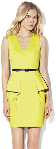 Vince Camuto Fitted Peplum Dress