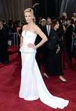 Charlize Theron rocked her cropped hair on the red carpet at the Oscars in Feb. 2013.