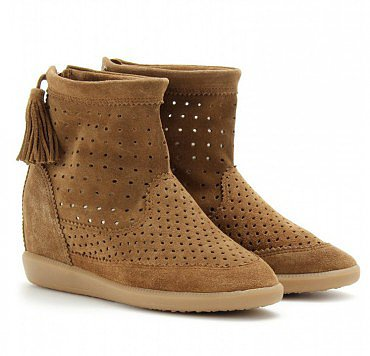 ISABEL MARANT BROWN BASLEY BOOT IN CAMEL