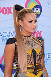 At last year's Teen Choice Awards, our jaws dropped when we spotted host Demi Lovato's warrior-inspired, down-to-there ponytail.