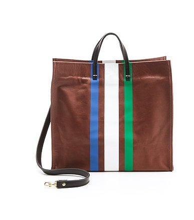 A perfectly preppy staple, this Clare Vivier Simple Tote ($285, originally $407) is something we're all about.