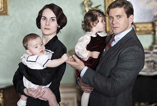 Michelle Dockery as Lady Mary and Allen Leech as Branson in Downton Abbey. Source: PBS