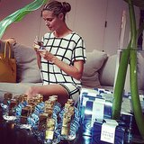 Heidi Klum signed bottles of her new perfume. Source: Instagram user heidiklum