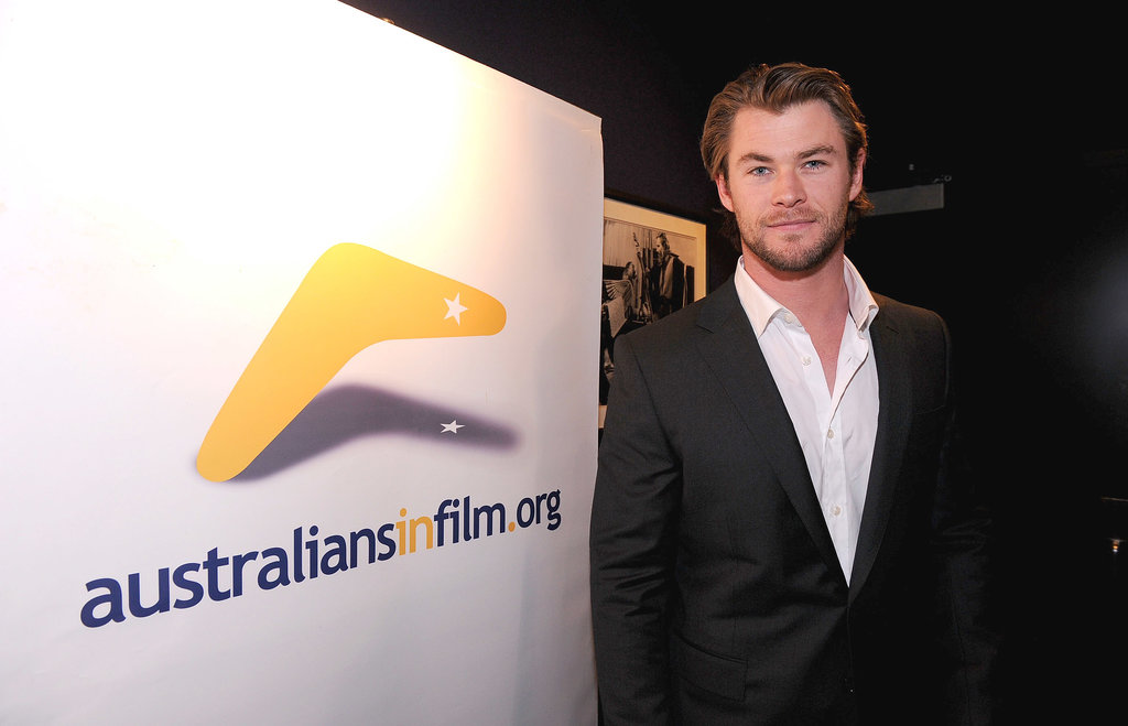Chris attended the Australians in Film screening of Thor in Hollywood in May 2011.