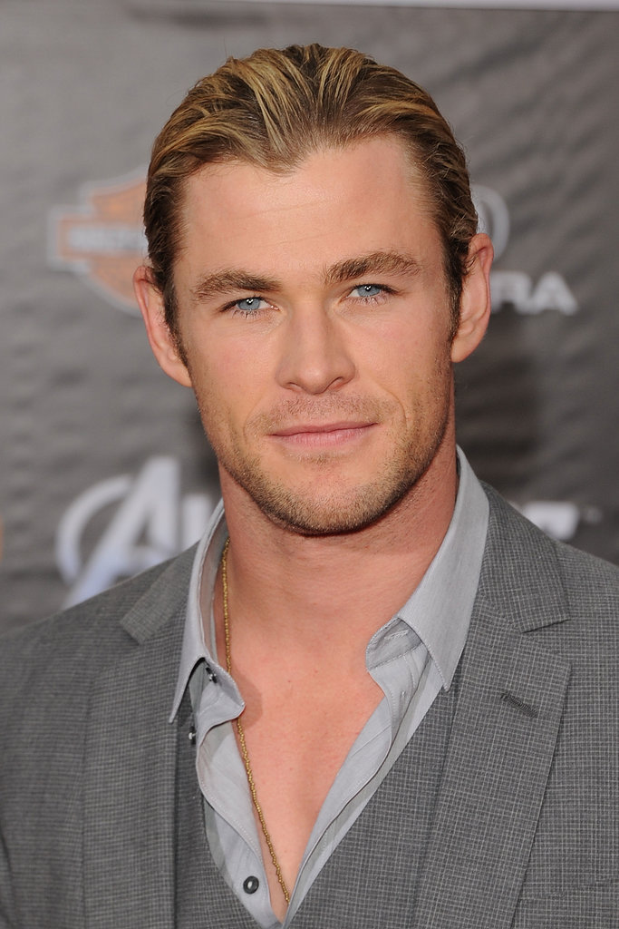 Chris' blue eyes were front and centre at the premiere of The Avengers in LA in Apr. 2012.