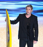 Chris was a winner at the Teen Choice Awards in July 2012.