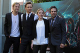 Chris joined his Avengers co-stars Tom Hiddleston, Scarlett Johansson and Mark Ruffalo at a photo call in Rome in April 2012.