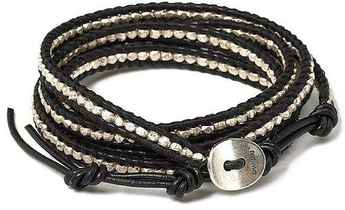 Chan Luu Black and Silver Wrap Bracelet