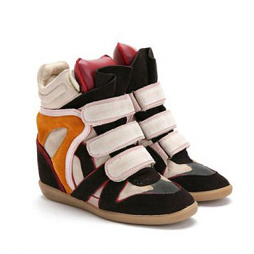 ISABEL MARANT BEKKET HIGH TOP WEDGE SNEAKERS RED