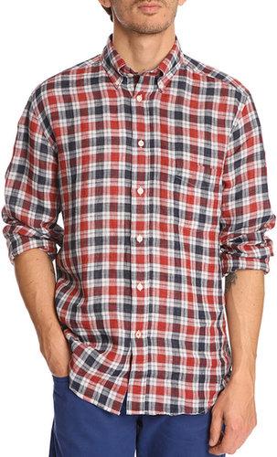 Hemd aus Wolle kariert rot Paul HARTFORD
