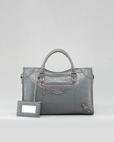 Balenciaga Giant 12 Rose Golden City Bag, Gris Tarmac