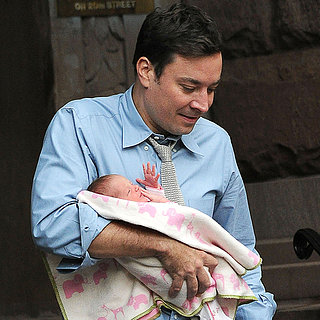 Jimmy Fallon Holding Baby Daughter Winnie Rose in NYC