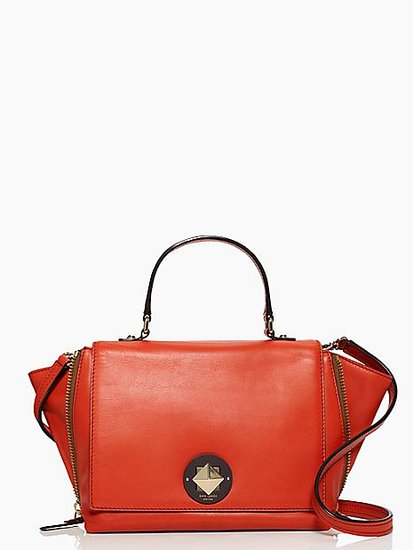 The trapeze bag ($179, originally $428) is strong but chic, and we love Kate Spade's burnt-orange take on the trend.