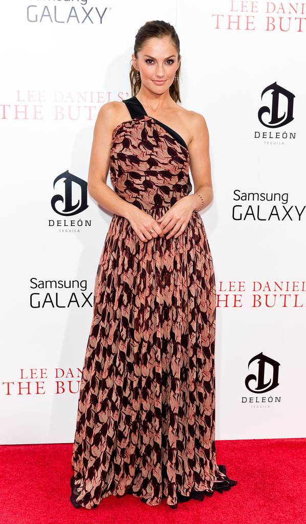Minka Kelly turned heads at the premiere of The Butler in a one-shouldered gown.