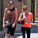 Which Actress Is Leaving The Gym With Jamie Campbell Bower?