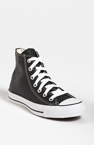 Converse Chuck Taylor All-Star Leather High Top Sneaker (Women) Womens Black Size 9.5 M 9.5 M