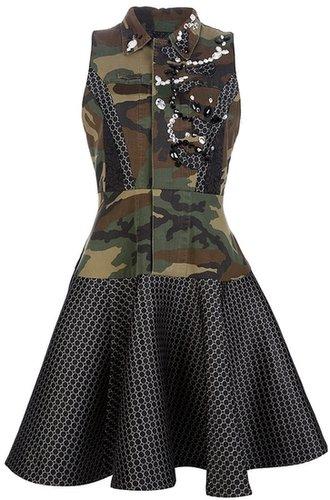 Antonio Marras military camouflage dress