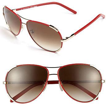 Chloe 60mm Aviator Sunglasses Gold One Size