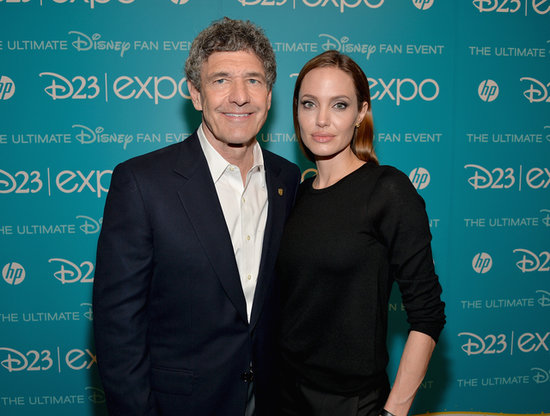 Angelina Jolie snapped a picture with Walt Disney Studios Chairman Alan Horn at the D23 Expo.