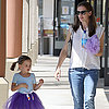 Jennifer Garner With Violet and Seraphina After Ballet Class