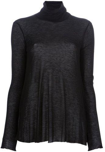 Pierre Balmain sheer roll neck sweater