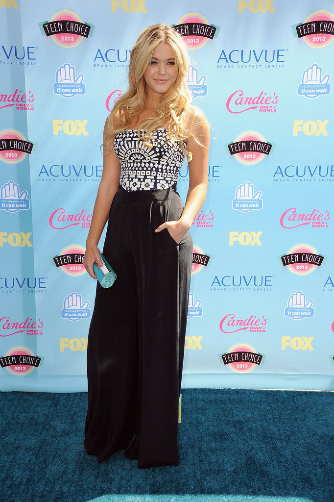 Sasha Pieterse attended the 2013 Teen Choice Awards.