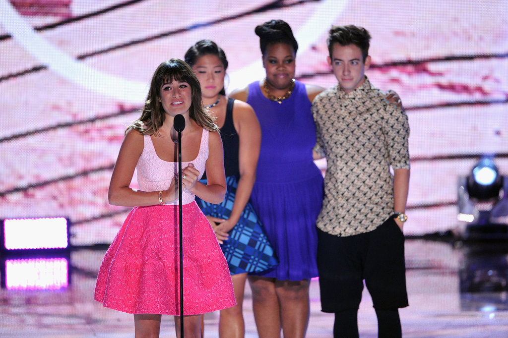 Lea Michele spoke during the Teen Choice Awards.