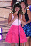 Lea Michele gave an emotional speech at the Teen Choice Awards.