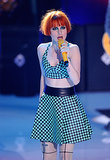 Paramore performed at the Teen Choice Awards.