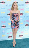 Bridgit Mendler made a splash in Kelly Wearstler's splattered minidress.