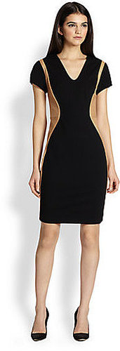 Diane von Furstenberg Dayton Leather Combo Dress