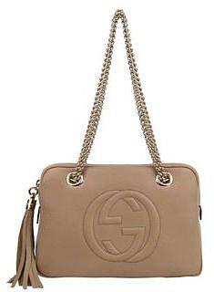 Gucci GUCCI Leather Soho Strap Box