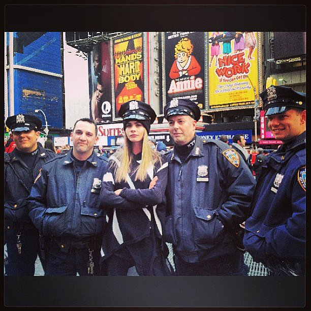 New York's finest! Source: Instagram user caradelevingne