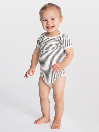 Infant Stripe Short Sleeve One-Piece ($14)