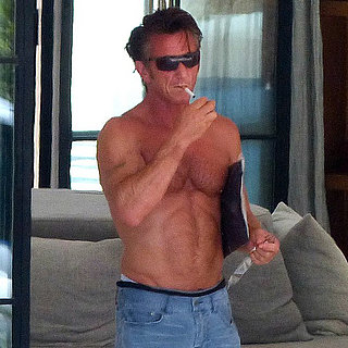 Sean Penn Shirtless in Spain