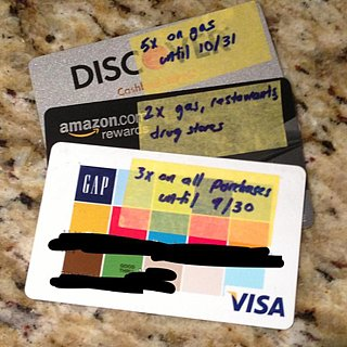 Tape Reminders of Credit Card Rewards