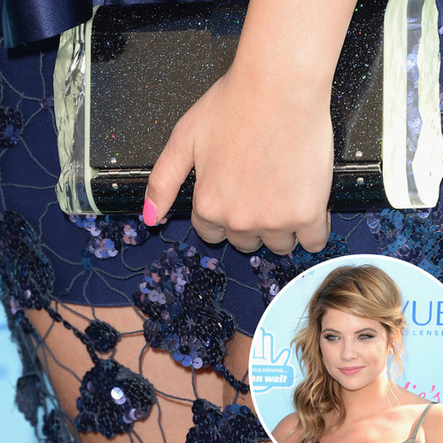 At the Teen Choice Awards, Ashley Benson opted for a girlie pop of pink on her nails.