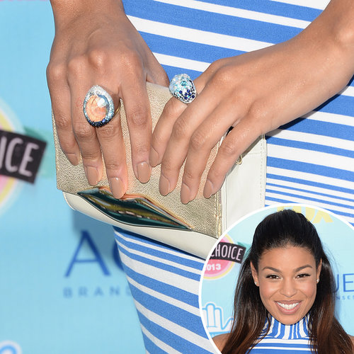 Jordin Sparks went classy and nude for her Teen Choice Awards manicure.