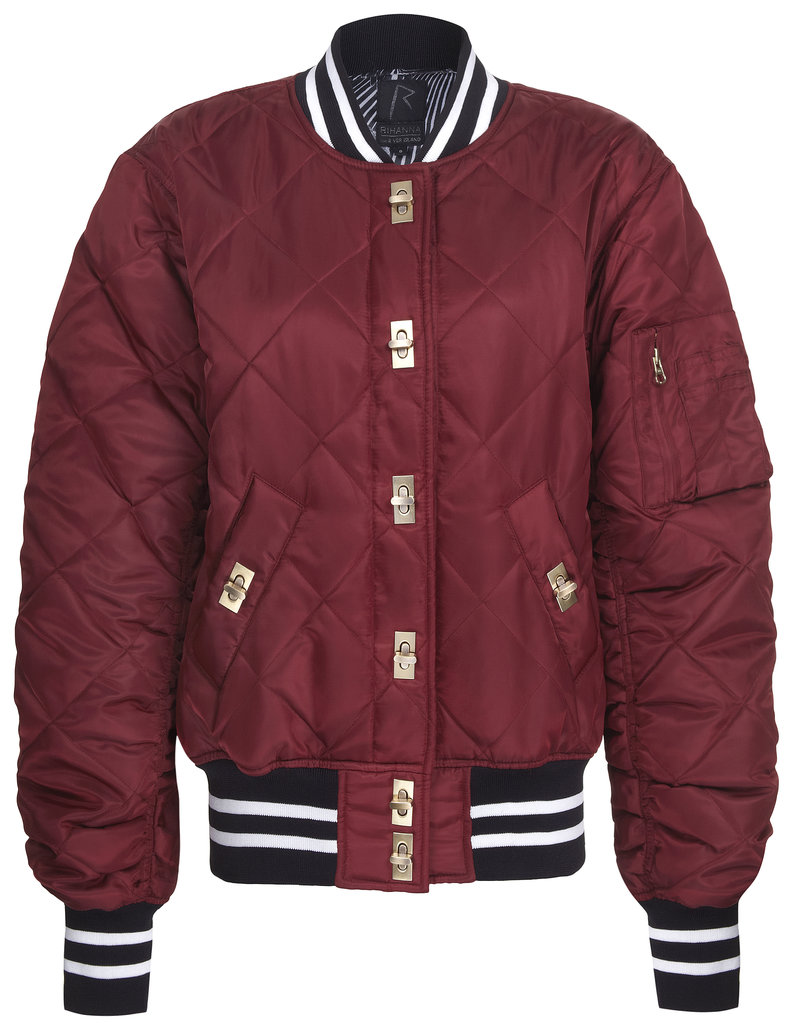 Rihanna for River Island Quilted Nylon Bomber ($120)