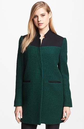 Kenneth Cole New York Contrast Yoke Boucle Coat 10