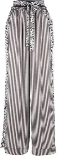 Pascal Millet wide leg belt-tie trouser