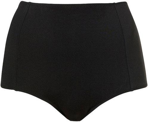 Black High Waisted Bikini Pants