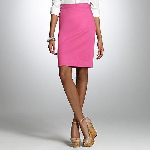 Cotton Sateen Pencil Skirt