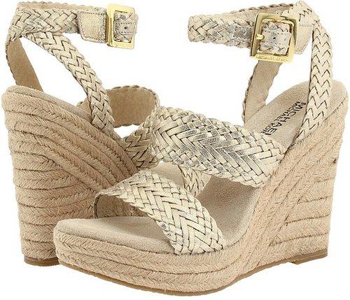 MICHAEL Michael Kors - Juniper Espadrille (White Gold Metallic) - Footwear