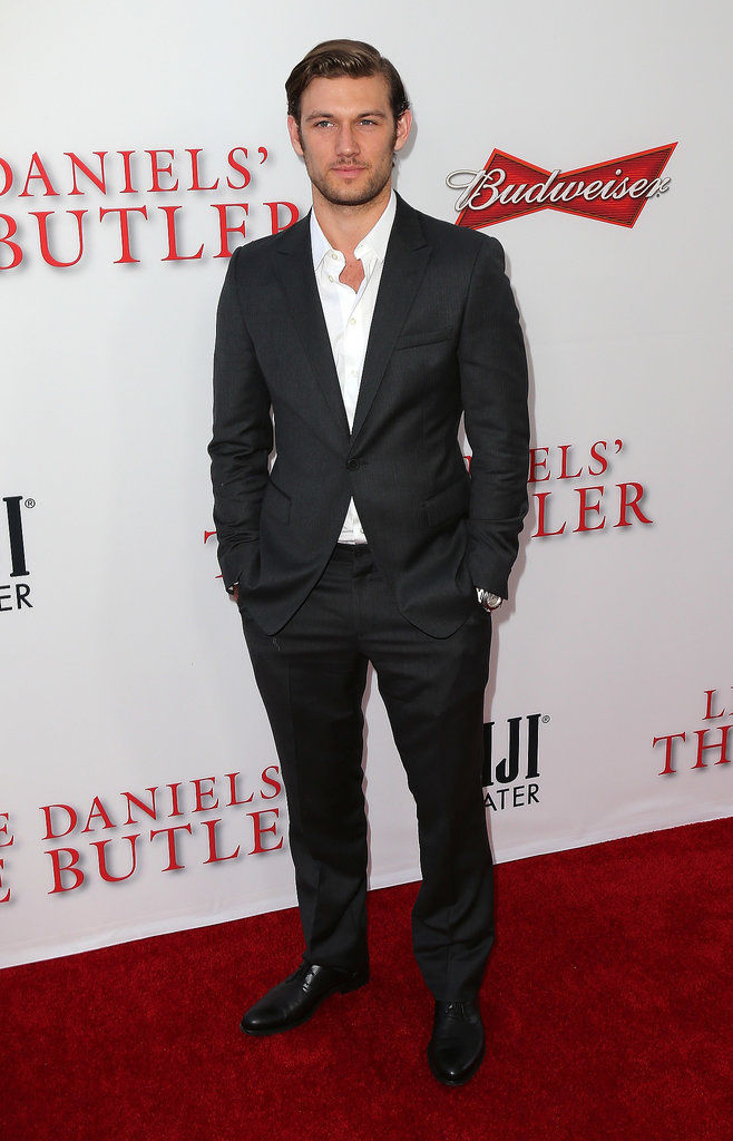 Alex Pettyfer suited up for the bash.
