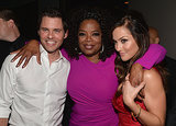 Oprah mingled with James Marsden and Minka Kelly inside the premiere.