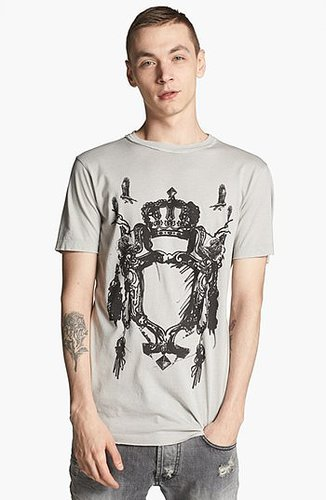 Pierre Balmain 'Crown Crest' T-Shirt (Online Only) Off White Large