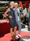In September 2012, Portia de Rossi showed support for Ellen DeGeneres when she received a star on the Hollywood Walk of Fame.